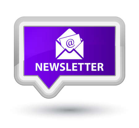 article marketing: Newsletter purple banner button