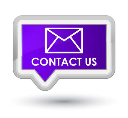 email contact: Contact us (email icon) purple banner button