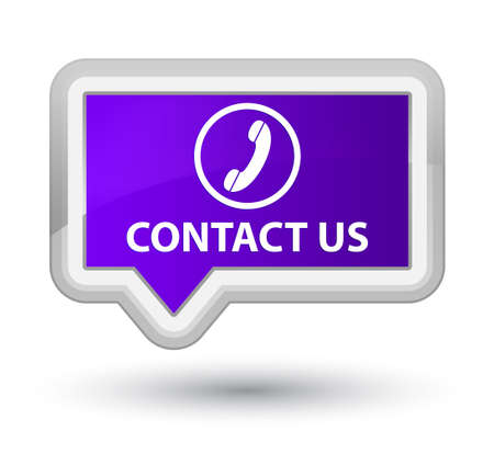 phone us: Contact us (phone icon round border) purple banner button