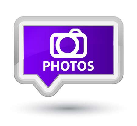 Photos (camera icon) purple banner button