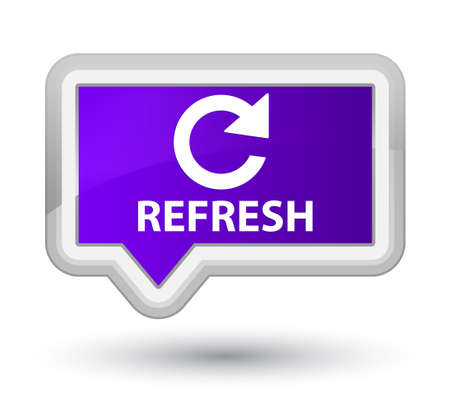 rotate: Refresh (rotate arrow icon) purple banner button