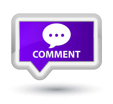 comment: Comment (conversation icon) purple banner button