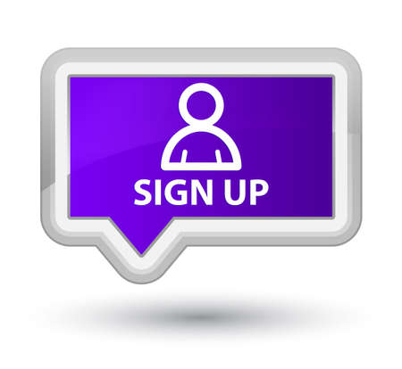 member: Sign up (member icon) purple banner button