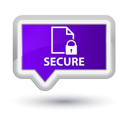 safeguard: Secure (document page padlock icon) purple banner button