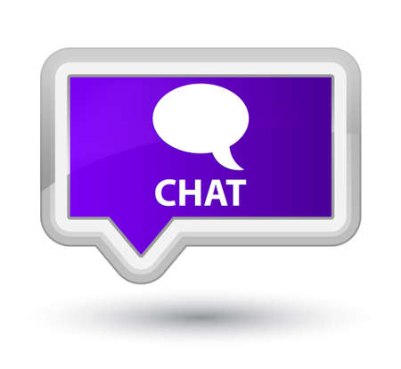 chat: Chat purple banner button