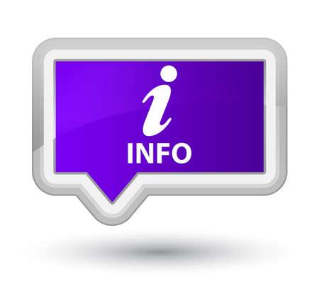 inquiry: Info purple banner button Stock Photo