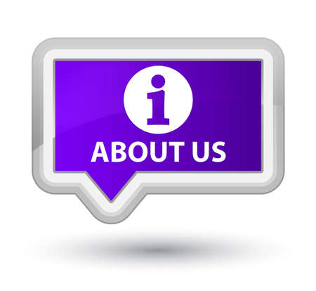 about us: About us purple banner button