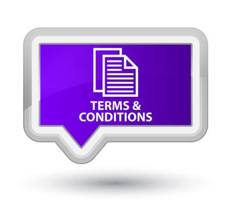 term and conditions: Terms and conditions (pages icon) purple banner button