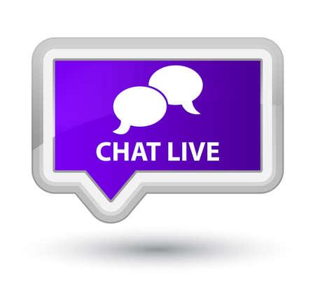 instant message: Chat live purple banner button