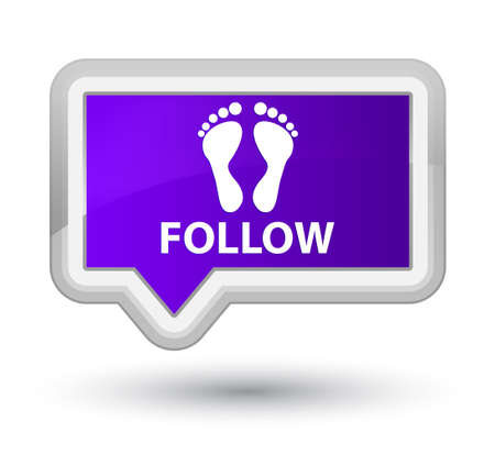 follow: Follow (footprint icon) purple banner button