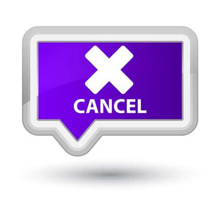 abort: Cancel purple banner button