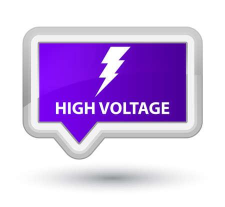 high voltage: High voltage (electricity icon) purple banner button