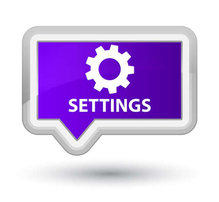 preference: Settings purple banner button