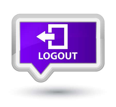 disconnect: Logout purple banner button Stock Photo