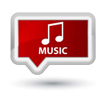 tune: Music (tune icon) red banner button Stock Photo