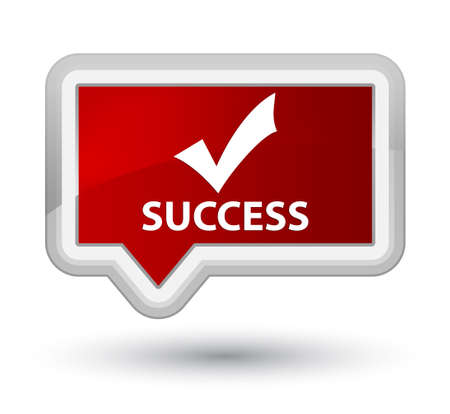 validate: Success (validate icon) red banner button Stock Photo