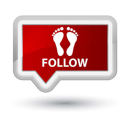 follow: Follow (footprint icon) red banner button