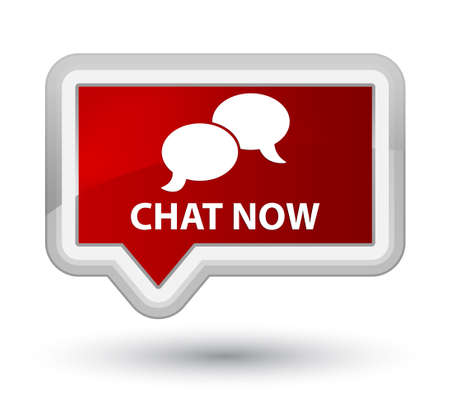 instant message: Chat now red banner button