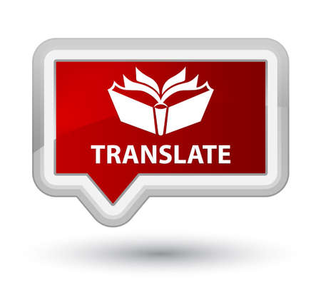 translate: Translate red banner button Stock Photo