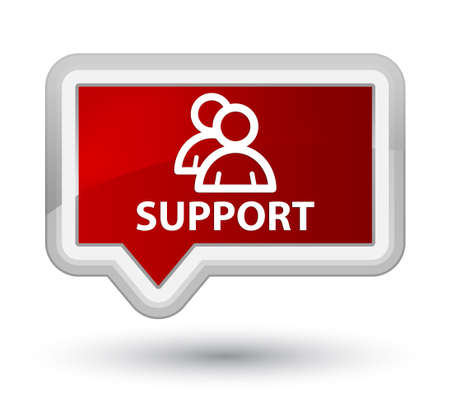 support group: Support (group icon) red banner button