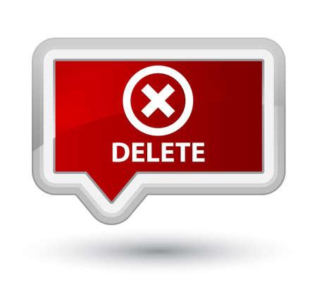 refuse: Delete red banner button