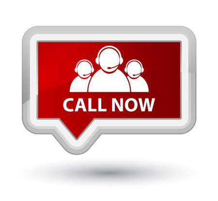 Call now (customer care team icon) red banner button