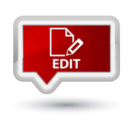 Edit red banner button