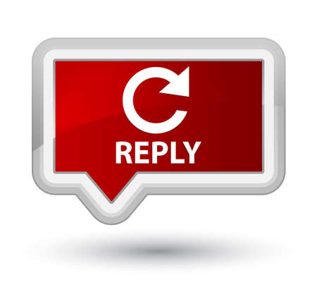 reply: Reply (rotate arrow icon) red banner button