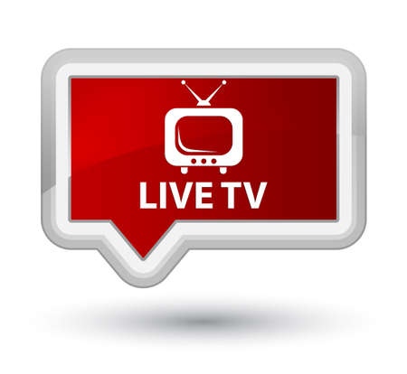 tv station: Live tv red banner button