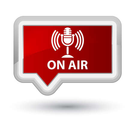 talk show: On air (mic icon) red banner button