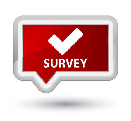 validate: Survey (validate icon) red banner button