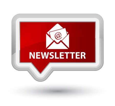 news letter: Newsletter red banner button