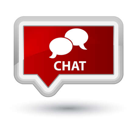 instant message: Chat red banner button