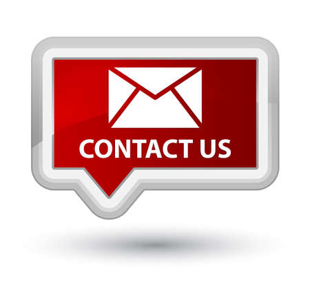 email contact: Contact us (email icon) red banner button