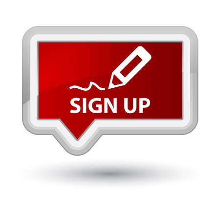 registry: Sign up red banner button
