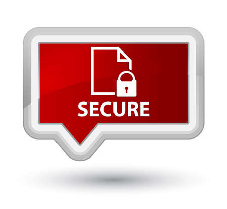 insecure: Secure (document page padlock icon) red banner button