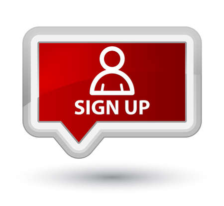 sign up: Sign up (member icon) red banner button