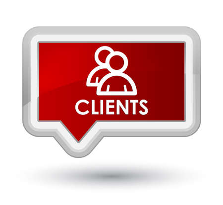clientele: Clients (group icon) red banner button