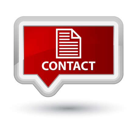 contact page: Contact (page icon) red banner button