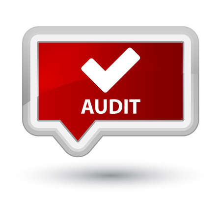validate: Audit (validate icon) red banner button