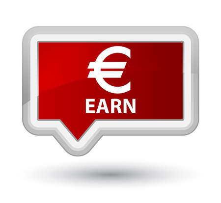 earn: Earn (euro sign) red banner button
