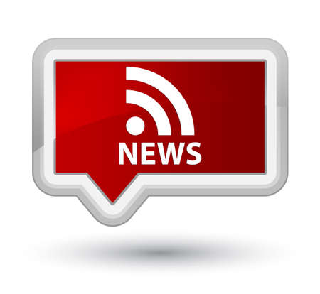 news current events: News (RSS icon) red banner button