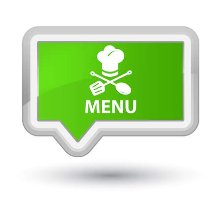 Menu (restaurant icon) soft green banner button