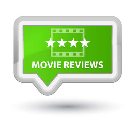 reviews: Movie reviews soft green banner button
