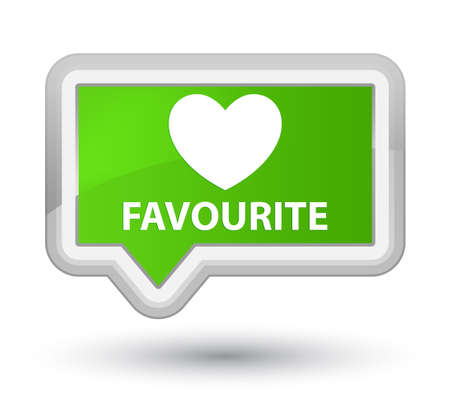 favourite: Favourite (heart icon) soft green banner button