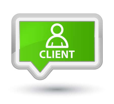 administrador de empresas: Cliente (icono de miembro) bandera botón verde suave