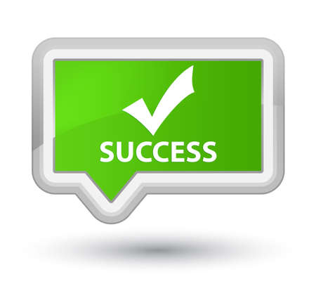 validate: Success (validate icon) soft green banner button Stock Photo