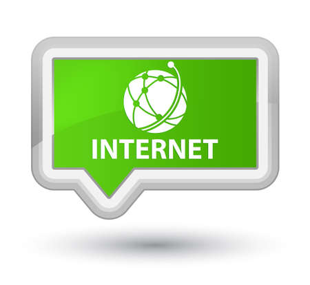 galactic: Internet (global network icon) soft green banner button