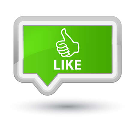 Like soft green banner button