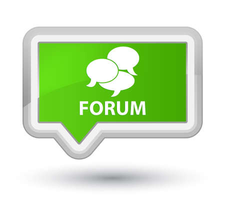 comments: Forum (comments icon) soft green banner button